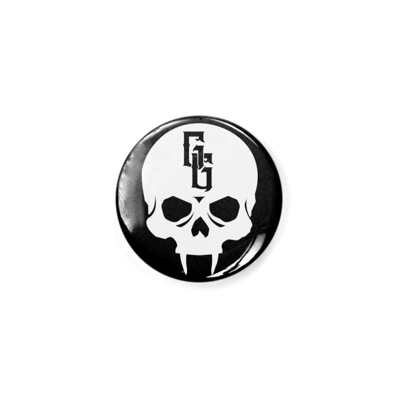 Gehenna Gaming Skull Logo (No Text - Goth Version) Accessories Button by The Gehenna Gaming Shop