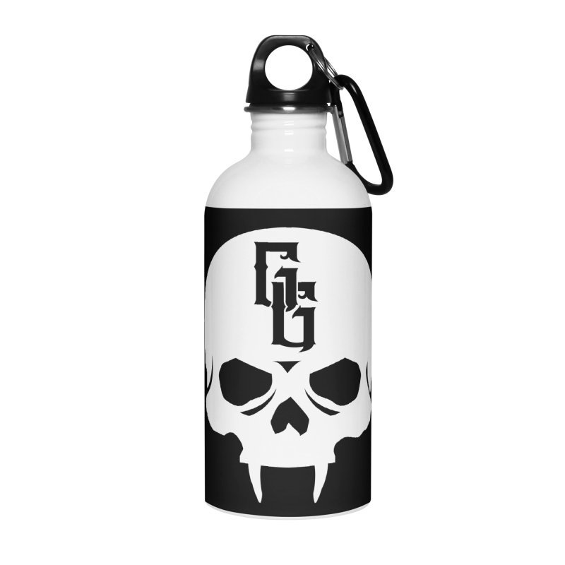 Gehenna Gaming Skull Logo (No Text - Goth Version) Accessories Water Bottle by GehennaGaming's Artist Shop