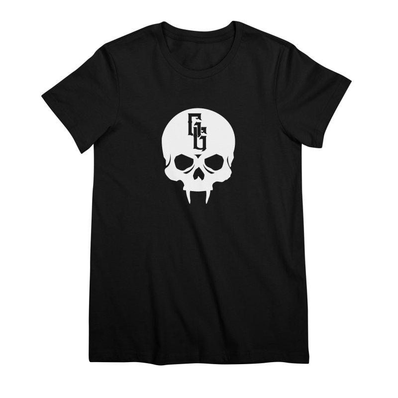 Gehenna Gaming Skull Logo (No Text - Goth Version) Women's Premium T-Shirt by GehennaGaming's Artist Shop