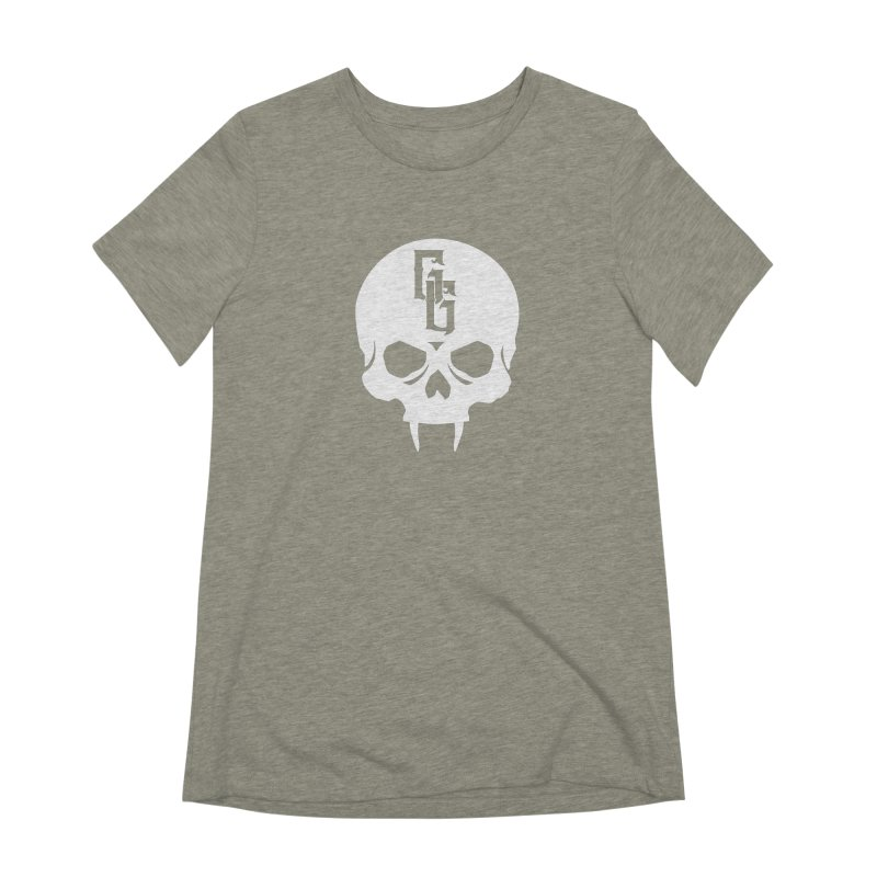 Gehenna Gaming Skull Logo (No Text - Goth Version) Women's Extra Soft T-Shirt by The Gehenna Gaming Shop