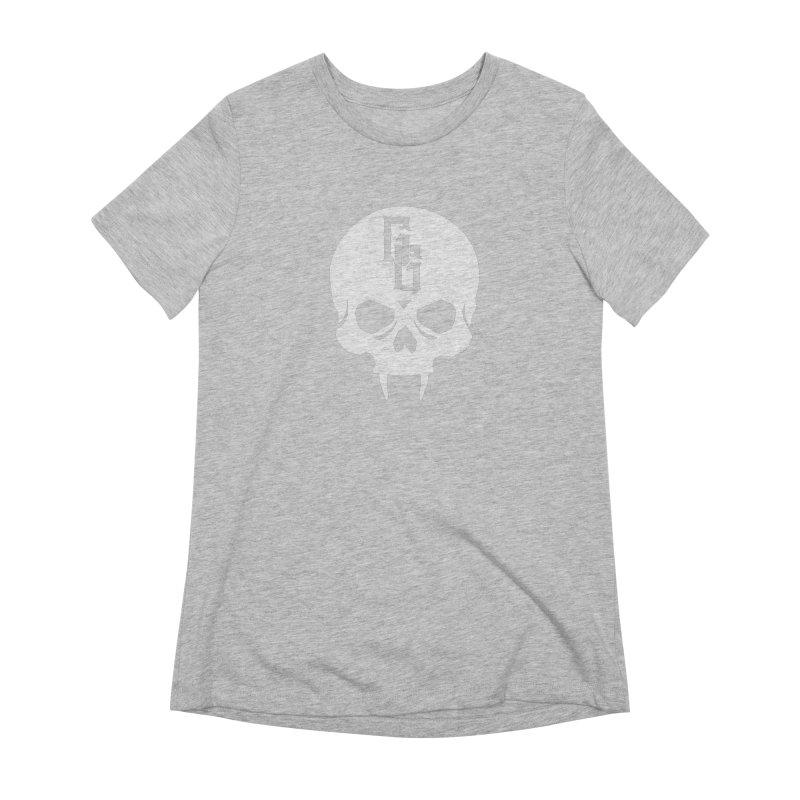 Gehenna Gaming Skull Logo (No Text - Goth Version) Women's Extra Soft T-Shirt by GehennaGaming's Artist Shop