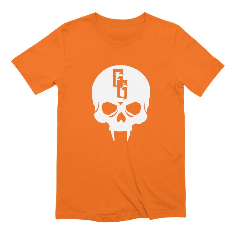 Gehenna Gaming Skull Logo (No Text - Goth Version) Men's Extra Soft T-Shirt by The Gehenna Gaming Shop