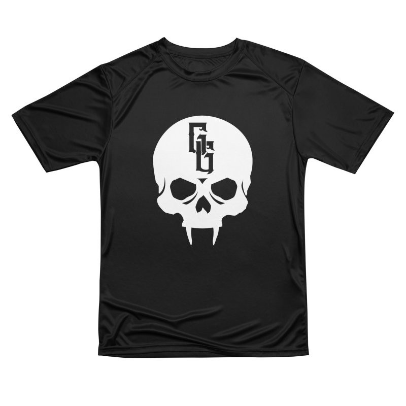 Gehenna Gaming Skull Logo (No Text - Goth Version) Men's Performance T-Shirt by The Gehenna Gaming Shop