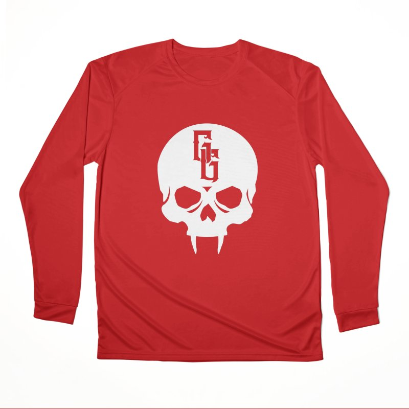 Gehenna Gaming Skull Logo (No Text - Goth Version) Men's Performance Longsleeve T-Shirt by GehennaGaming's Artist Shop