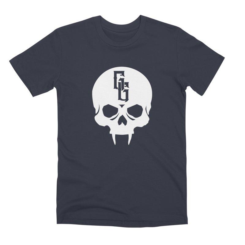 Gehenna Gaming Skull Logo (No Text - Goth Version) Men's Premium T-Shirt by GehennaGaming's Artist Shop