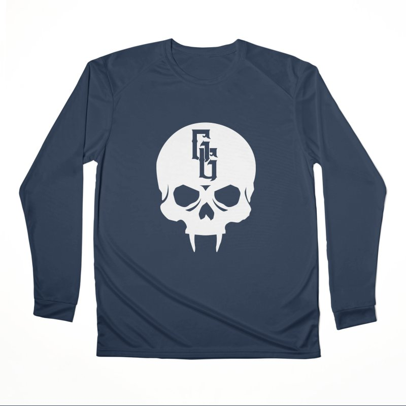 Gehenna Gaming Skull Logo (No Text - Goth Version) Women's Performance Unisex Longsleeve T-Shirt by GehennaGaming's Artist Shop