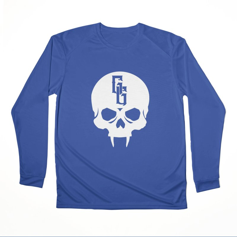 Gehenna Gaming Skull Logo (No Text - Goth Version) Women's Performance Unisex Longsleeve T-Shirt by The Gehenna Gaming Shop