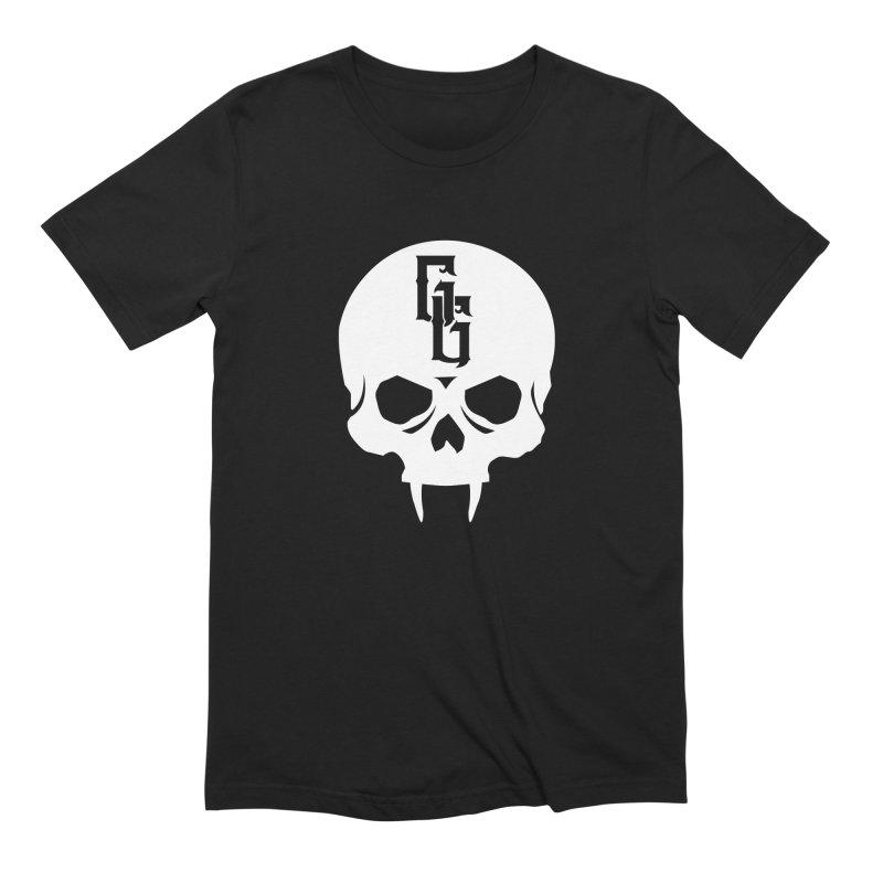 Gehenna Gaming Skull Logo (No Text - Goth Version) Men's Extra Soft T-Shirt by The Gehenna Gaming Shop