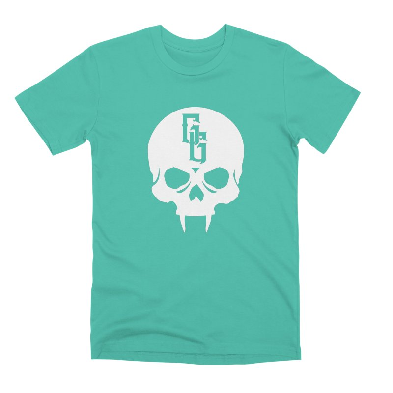 Gehenna Gaming Skull Logo (No Text - Goth Version) Men's Premium T-Shirt by The Gehenna Gaming Shop