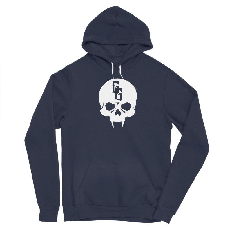 Gehenna Gaming Skull Logo (No Text - Goth Version) Women's Sponge Fleece Pullover Hoody by The Gehenna Gaming Shop