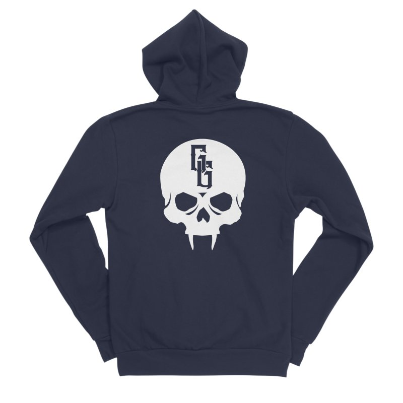 Gehenna Gaming Skull Logo (No Text - Goth Version) Men's Sponge Fleece Zip-Up Hoody by GehennaGaming's Artist Shop