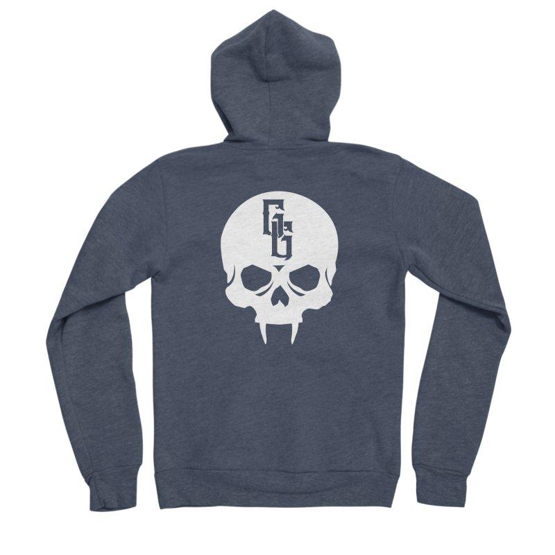 Gehenna Gaming Skull Logo (No Text - Goth Version) Women's Sponge Fleece Zip-Up Hoody by The Gehenna Gaming Shop