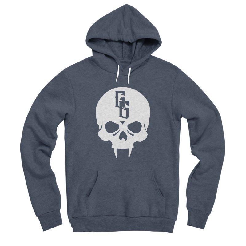 Gehenna Gaming Skull Logo (No Text - Goth Version) Men's Sponge Fleece Pullover Hoody by GehennaGaming's Artist Shop