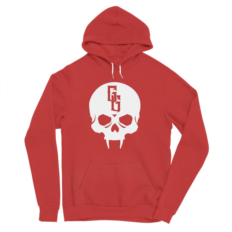 Gehenna Gaming Skull Logo (No Text - Goth Version) Women's Sponge Fleece Pullover Hoody by The Gehenna Gaming Shop