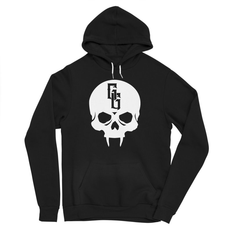 Gehenna Gaming Skull Logo (No Text - Goth Version) Men's Sponge Fleece Pullover Hoody by GehennaGaming's Artist Shop