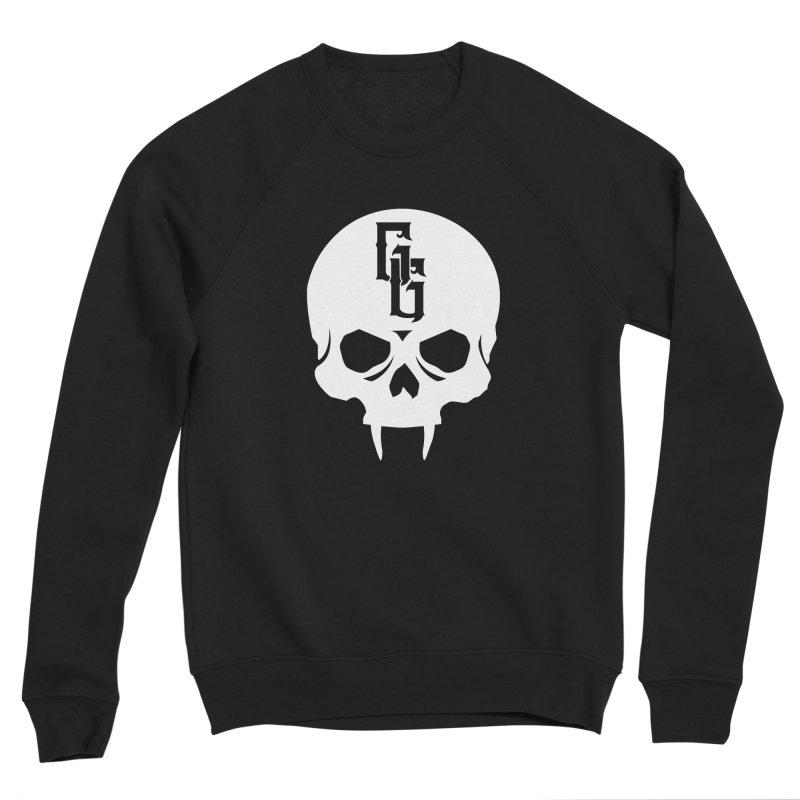 Gehenna Gaming Skull Logo (No Text - Goth Version) Men's Sponge Fleece Sweatshirt by GehennaGaming's Artist Shop