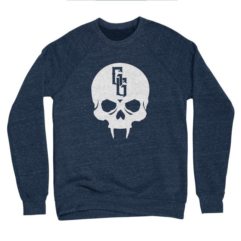 Gehenna Gaming Skull Logo (No Text - Goth Version) Men's Sponge Fleece Sweatshirt by The Gehenna Gaming Shop