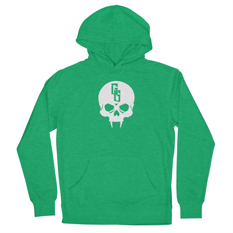 Gehenna Gaming Skull Logo (No Text - Goth Version) Men's French Terry Pullover Hoody by The Gehenna Gaming Shop