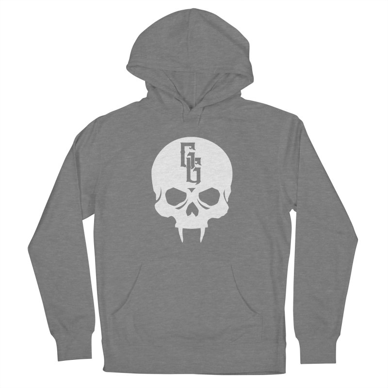 Gehenna Gaming Skull Logo (No Text - Goth Version) Women's French Terry Pullover Hoody by The Gehenna Gaming Shop