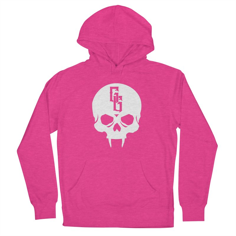 Gehenna Gaming Skull Logo (No Text - Goth Version) Women's French Terry Pullover Hoody by GehennaGaming's Artist Shop