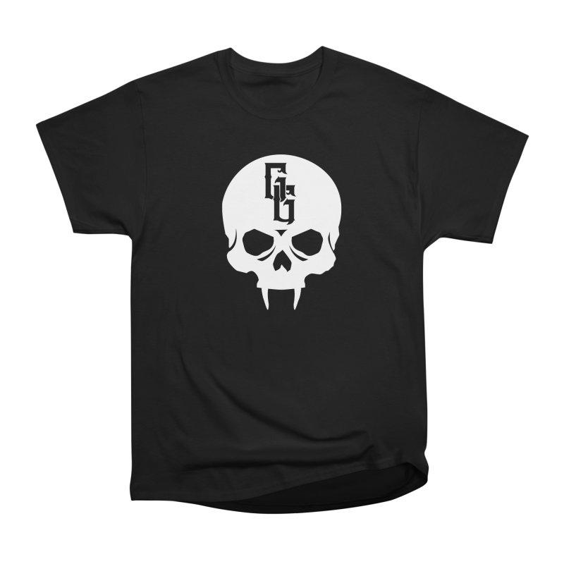 Gehenna Gaming Skull Logo (No Text - Goth Version) Men's Heavyweight T-Shirt by The Gehenna Gaming Shop