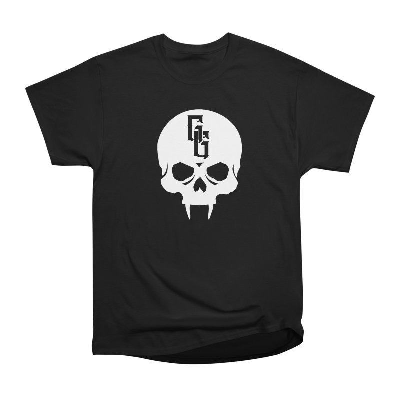 Gehenna Gaming Skull Logo (No Text - Goth Version) Women's Heavyweight Unisex T-Shirt by GehennaGaming's Artist Shop