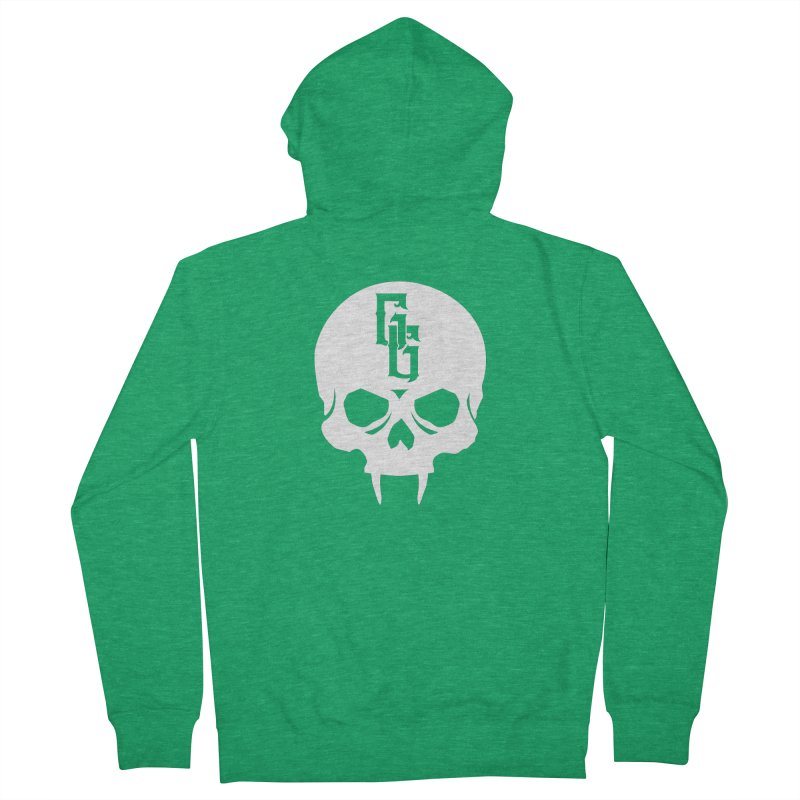 Gehenna Gaming Skull Logo (No Text - Goth Version) Women's Zip-Up Hoody by The Gehenna Gaming Shop