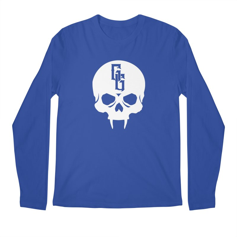 Gehenna Gaming Skull Logo (No Text - Goth Version) Men's Regular Longsleeve T-Shirt by The Gehenna Gaming Shop