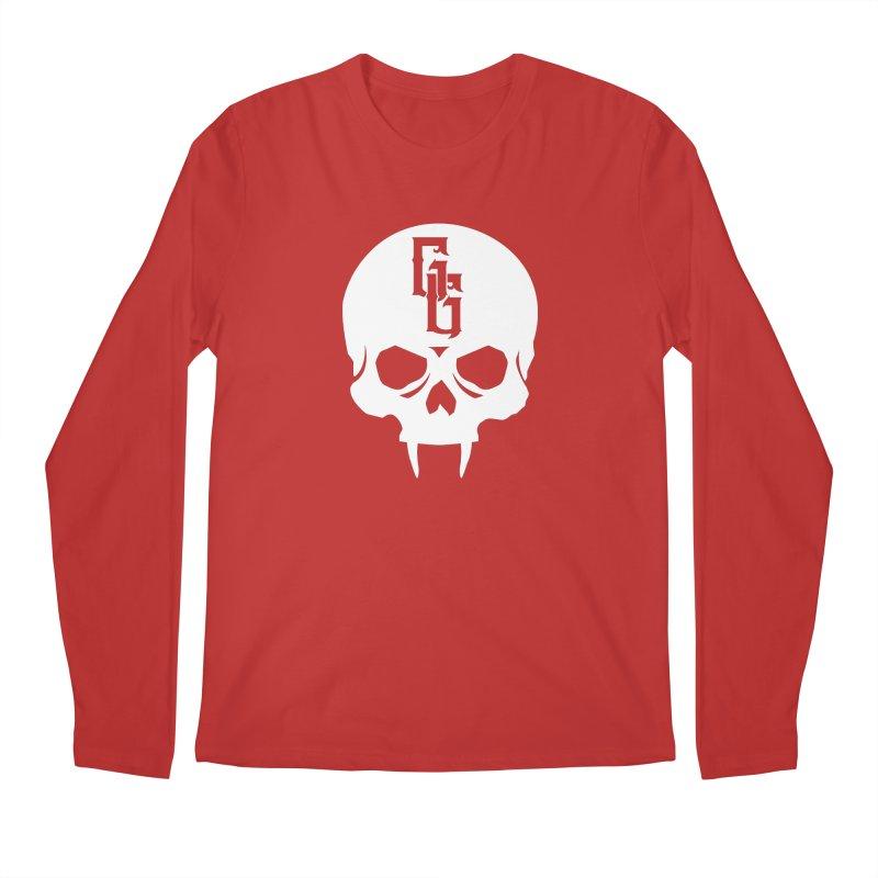 Gehenna Gaming Skull Logo (No Text - Goth Version) Men's Regular Longsleeve T-Shirt by GehennaGaming's Artist Shop