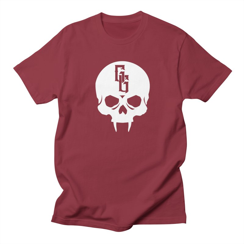 Gehenna Gaming Skull Logo (No Text - Goth Version) Men's Regular T-Shirt by The Gehenna Gaming Shop