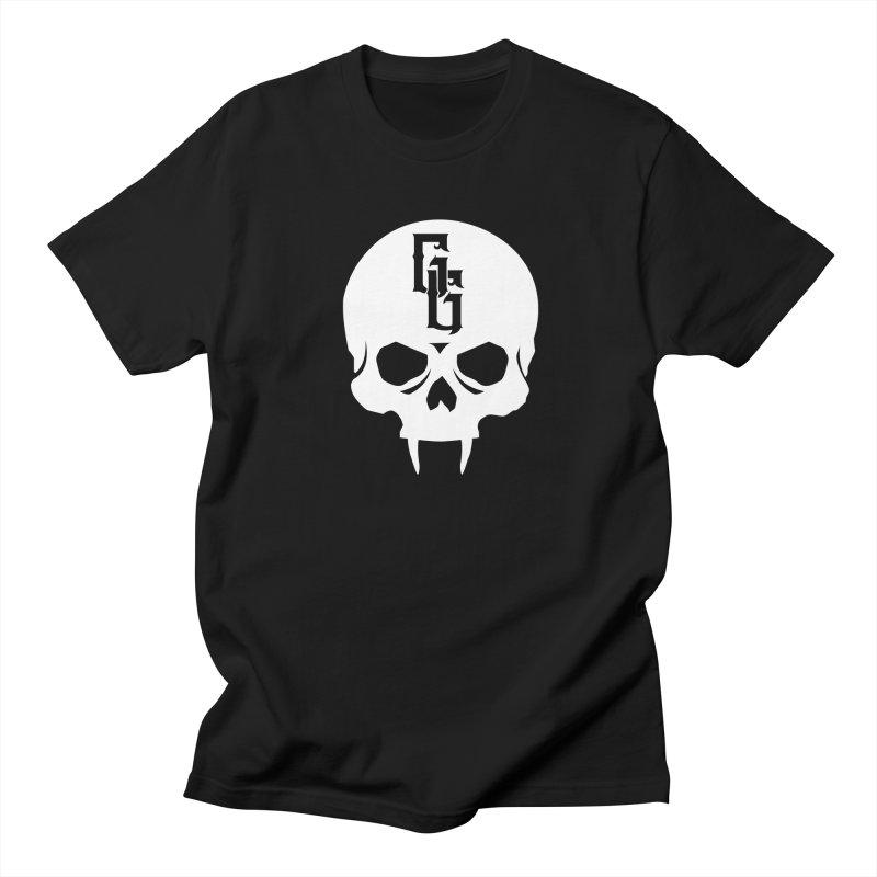 Gehenna Gaming Skull Logo (No Text - Goth Version) Men's Regular T-Shirt by The Gehenna Gaming Shop
