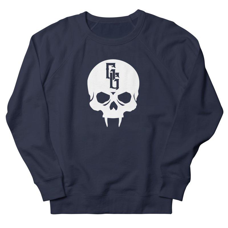 Gehenna Gaming Skull Logo (No Text - Goth Version) Women's French Terry Sweatshirt by The Gehenna Gaming Shop