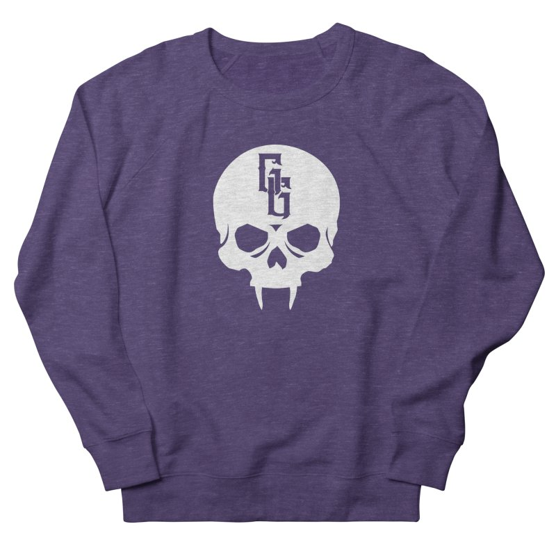 Gehenna Gaming Skull Logo (No Text - Goth Version) Men's French Terry Sweatshirt by The Gehenna Gaming Shop