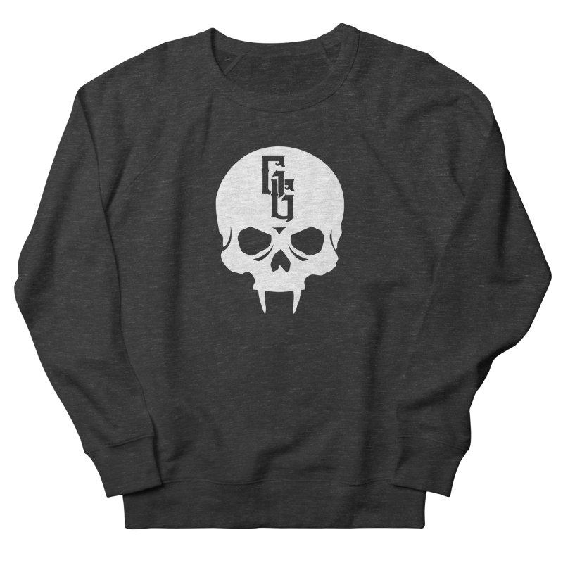 Gehenna Gaming Skull Logo (No Text - Goth Version) Men's French Terry Sweatshirt by The Gehenna Gaming Shop