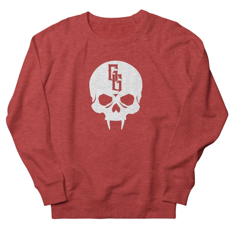 Gehenna Gaming Skull Logo (No Text - Goth Version) Men's French Terry Sweatshirt by GehennaGaming's Artist Shop
