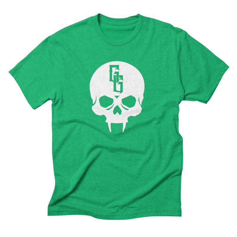 Gehenna Gaming Skull Logo (No Text - Goth Version) Men's Triblend T-Shirt by The Gehenna Gaming Shop