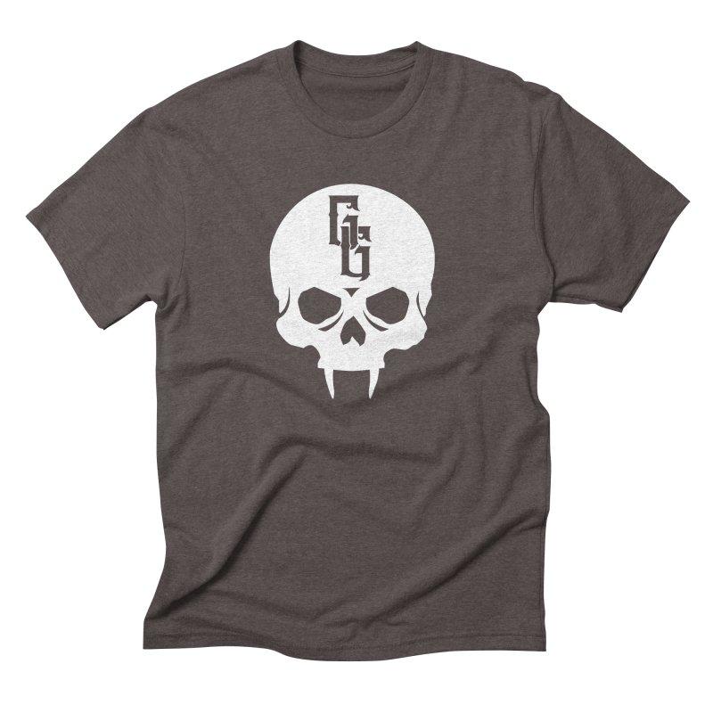 Gehenna Gaming Skull Logo (No Text - Goth Version) Men's Triblend T-Shirt by GehennaGaming's Artist Shop