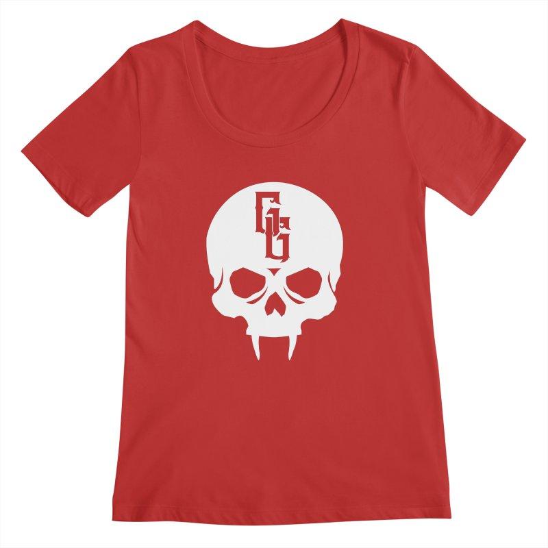 Gehenna Gaming Skull Logo (No Text - Goth Version) Women's Regular Scoop Neck by The Gehenna Gaming Shop