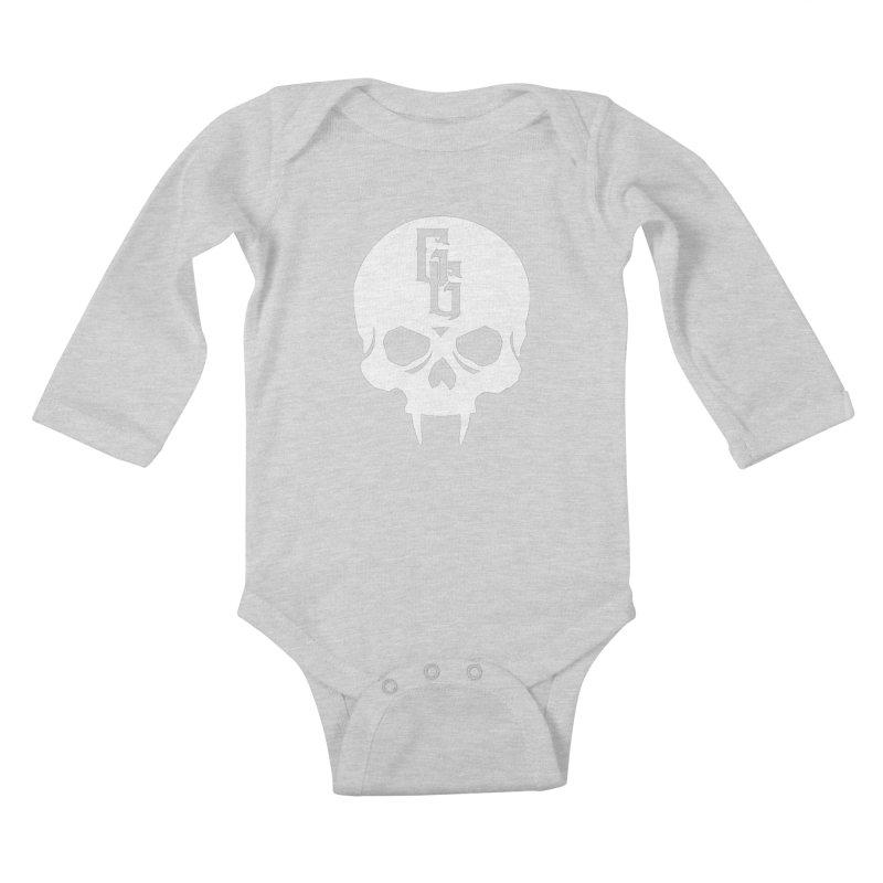 Gehenna Gaming Skull Logo (No Text - Goth Version) Kids Baby Longsleeve Bodysuit by GehennaGaming's Artist Shop