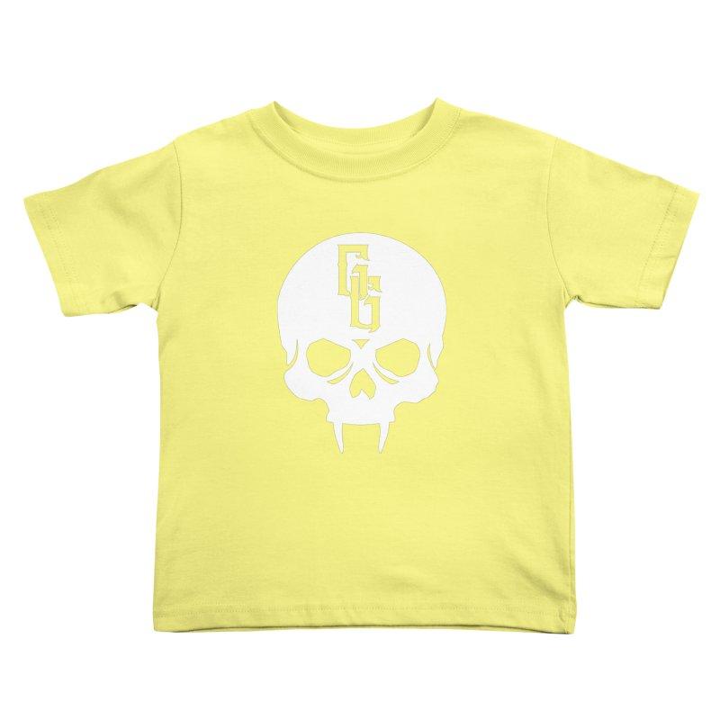 Gehenna Gaming Skull Logo (No Text - Goth Version) Kids Toddler T-Shirt by The Gehenna Gaming Shop