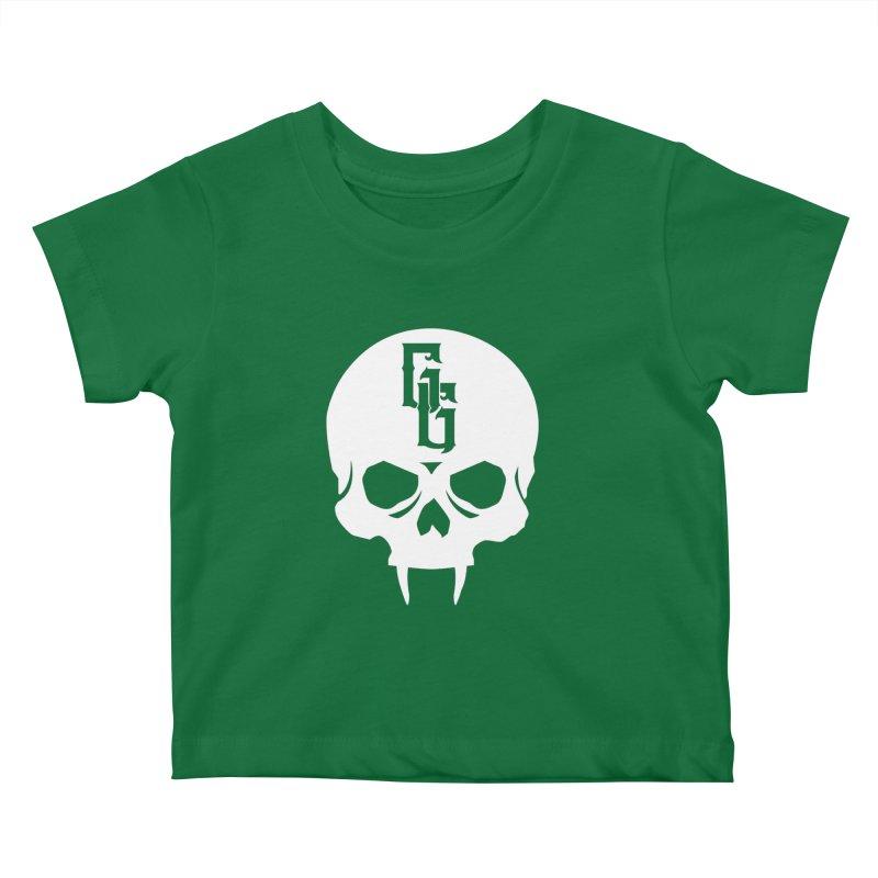 Gehenna Gaming Skull Logo (No Text - Goth Version) Kids Baby T-Shirt by The Gehenna Gaming Shop