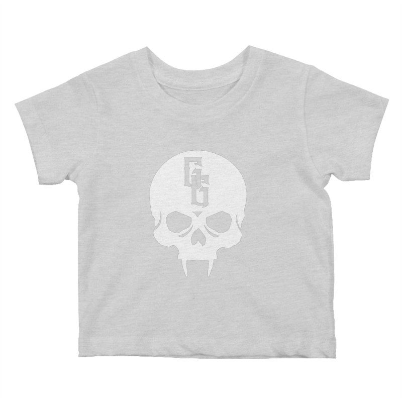 Gehenna Gaming Skull Logo (No Text - Goth Version) Kids Baby T-Shirt by The Gehenna Gaming Shop