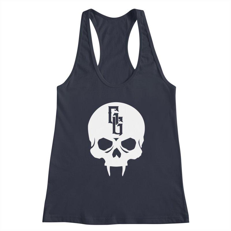 Gehenna Gaming Skull Logo (No Text - Goth Version) Women's Racerback Tank by The Gehenna Gaming Shop
