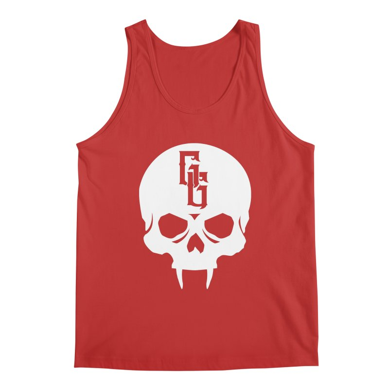 Gehenna Gaming Skull Logo (No Text - Goth Version) Men's Regular Tank by The Gehenna Gaming Shop