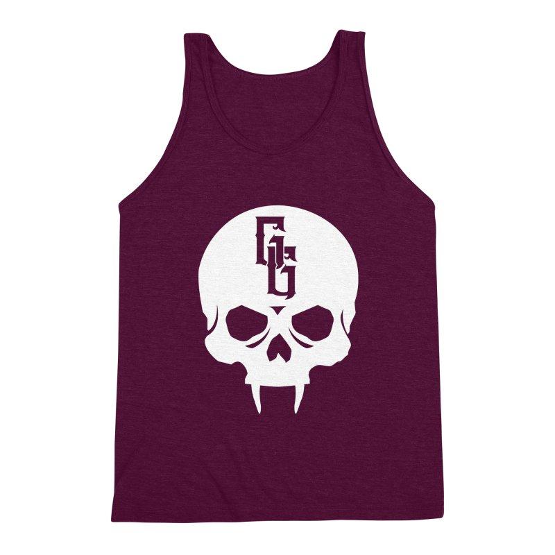 Gehenna Gaming Skull Logo (No Text - Goth Version) Men's Triblend Tank by The Gehenna Gaming Shop