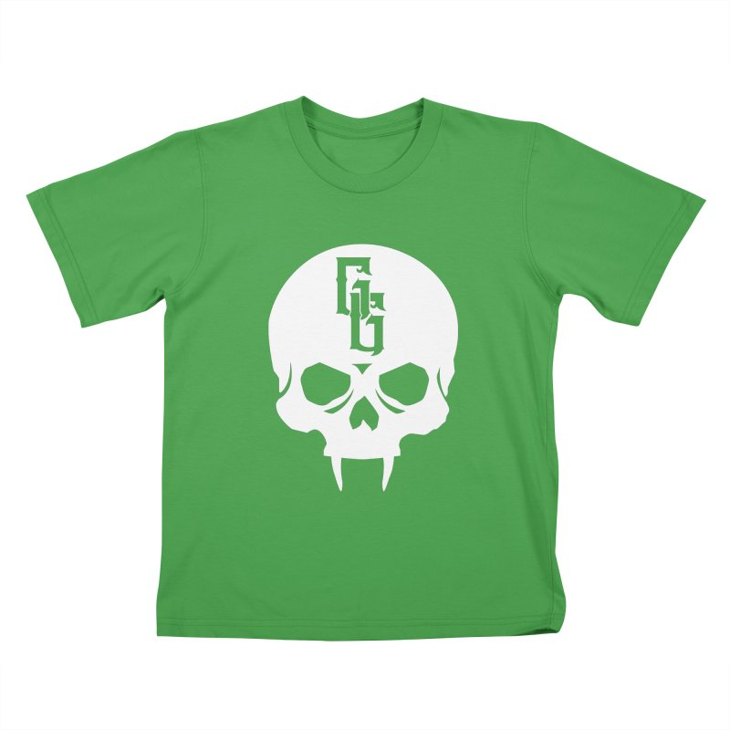 Gehenna Gaming Skull Logo (No Text - Goth Version) Kids T-Shirt by GehennaGaming's Artist Shop