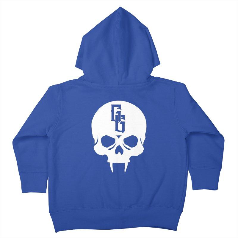 Gehenna Gaming Skull Logo (No Text - Goth Version) Kids Toddler Zip-Up Hoody by GehennaGaming's Artist Shop