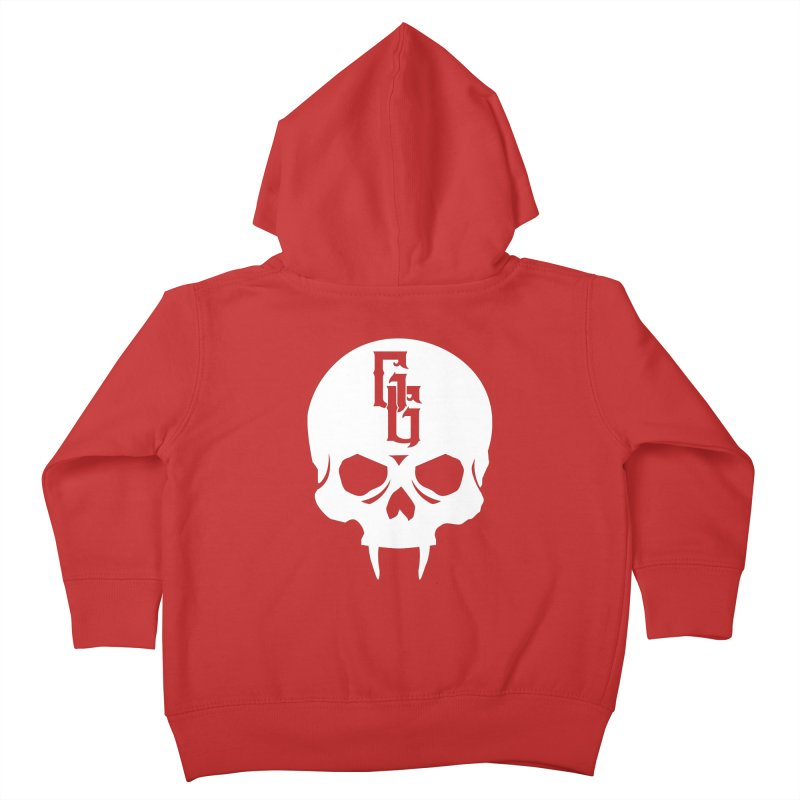 Gehenna Gaming Skull Logo (No Text - Goth Version) Kids Toddler Zip-Up Hoody by The Gehenna Gaming Shop