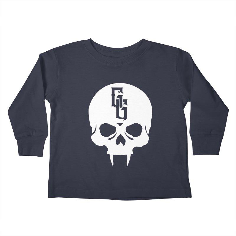 Gehenna Gaming Skull Logo (No Text - Goth Version) Kids Toddler Longsleeve T-Shirt by The Gehenna Gaming Shop