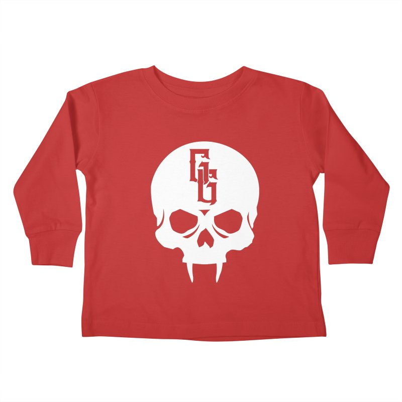 Gehenna Gaming Skull Logo (No Text - Goth Version) Kids Toddler Longsleeve T-Shirt by The Gehenna Gaming Shop